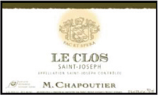 Saint Joseph Rouge Le Clos blog