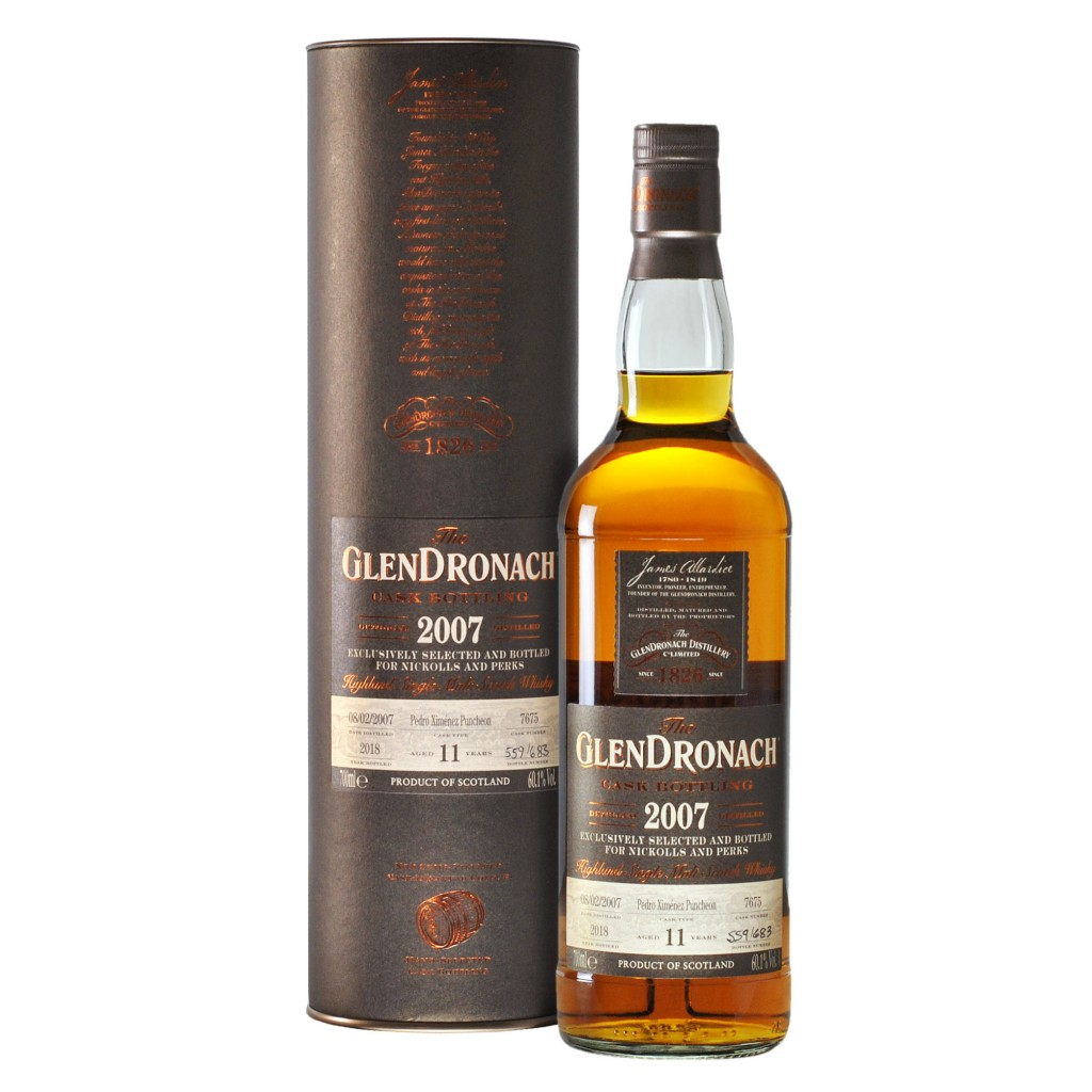 The GlenDronach 11 Year Old 2007 (cask 7675) - Nickolls & Perks Exclusive 60.1%