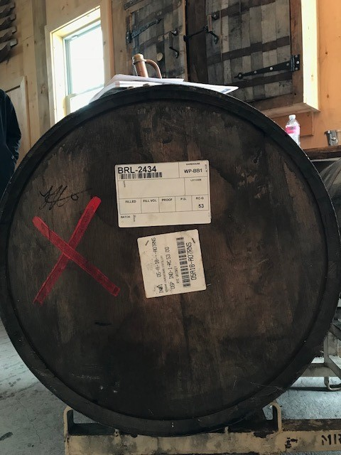barrel #2434 signed and secured by N&P